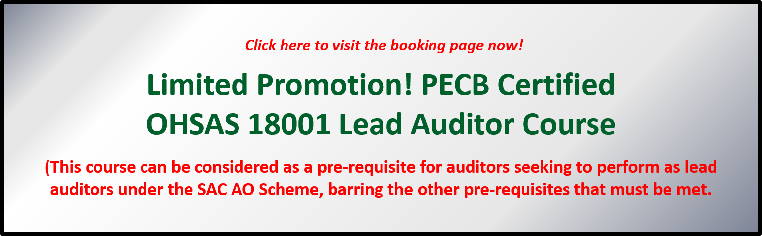 PECB OHSAS Lead Auditor and SAC